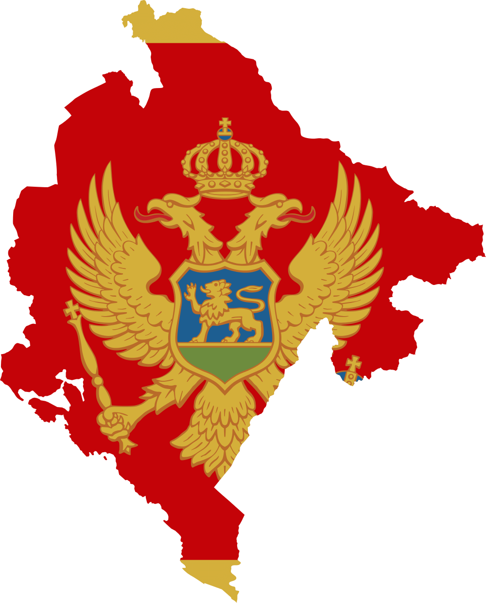 montenegro map flag budva